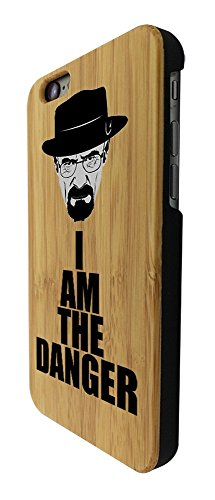 C0446 - Cool Fun Trendy Funny I Am The Danger Breaking Bad Design iphone 6 6S 4.7'' Coque Natural Véritable Bois Real Wood Coque
