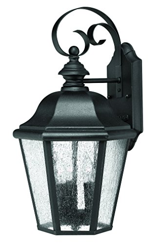 Hinkley 1676BK Traditional Three Light Wall Mount from Edgewater collection in Blackfinish, - Edgewater Wall Mount