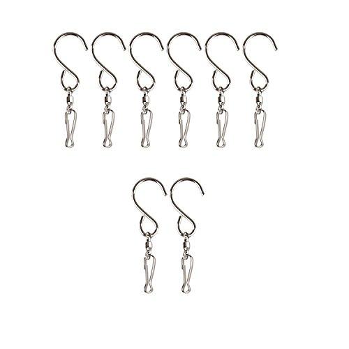 DECORY Swivel Hooks S Shaped Wind Spinner Hooks Stainless Steel Swivel Clips (Pack of 8) (Premium Wind Spinner)