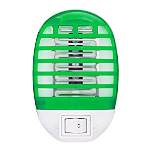 Bug Zapper Electronic insect killer,Mosquito killing lamp,best mosquito pest trap, For residential, Commercial and Industrial Use, Portable,Mini,No extra toxic liquid and spray (green)