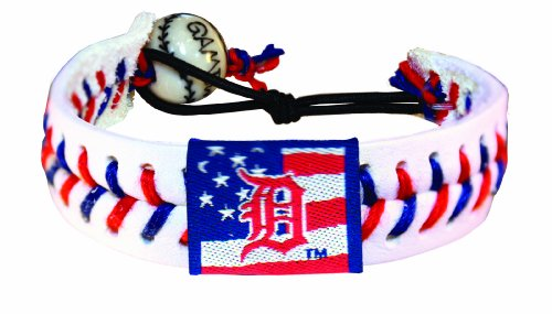 MLB Detroit Tigers Stars and Stripes Classic Baseball Bracelet