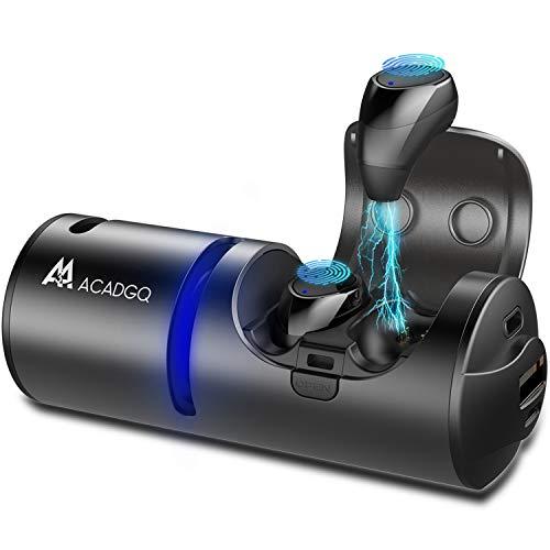 Wireless Bluetooth Earbuds ACADGQ Bluetooth Speaker 5.0 Noise Canceling 3 in 1 Waterproof in-Ear Headphones with Charging Case Power Bank