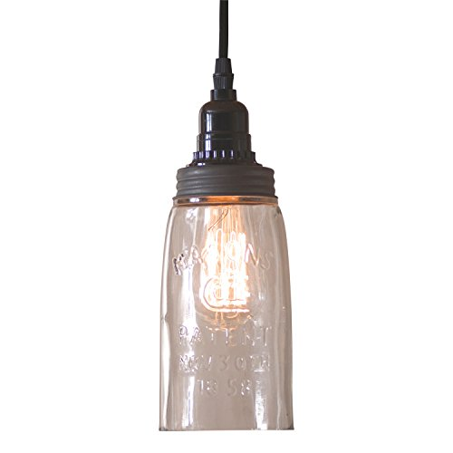 Clear Glass Jug Pendant Light