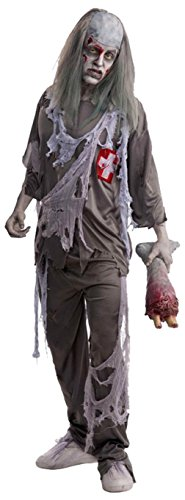 Honeystore Unisex Zombie Punk Doctor Extremely Scary Halloween Costumes Dresses