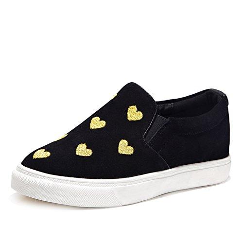 Le Fu/ zapatos de cuero de moda de primavera/verano/Zapatos del deporte/Plano casuales zapatos A
