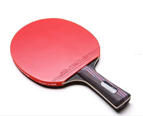 ZJH Raqueta de Tenis de Mesa de Fibra de Carbono, Madera de wengué de 5 Capas + Paleta de Ping Pong de Fibra de Carbono de 2 Capas, competición y Entrenamiento por ZJH