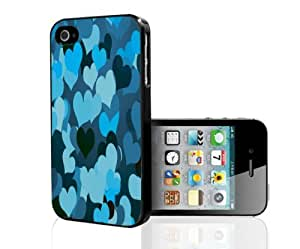 Girly Blue Hearts Pattern Hard Snap on Phone Case (iPhone 5/5s)