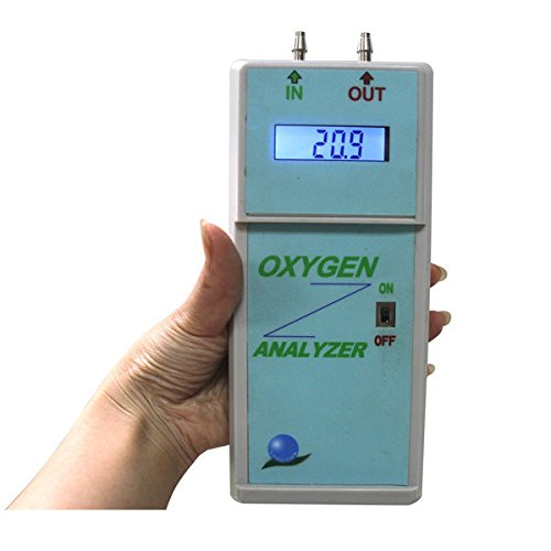 Portable Oxygen Analyzer O2 Purity Detector for Oxygen Concentrators Cylinders,Oxygen Concentration Content Tester Checker