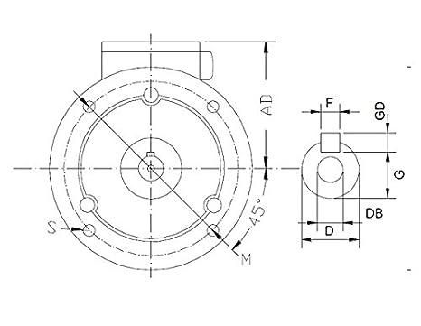 1500 U//min B5-230//400V Drehstrommotor 0,18 kW