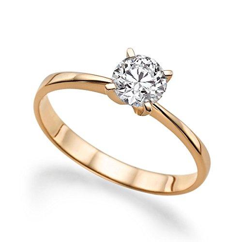 Beautiful-100ct-White-Sapphire-Engagement-Ring-14K
