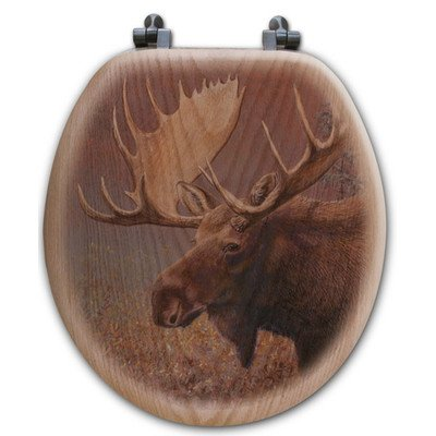 WGI-GALLERY TS-R-cm Chocolate Moose Round Toilet Seat