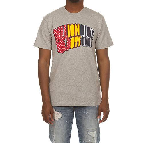 Billionaire Boys Club BB Aero Arch Short Sleeve Tee in 3 Color Choices 881-8204 (Heather Grey, XL)