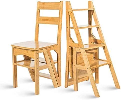 GBX Fácil Y Multifuncional Plegable Conveniente Taburete de Paso, Bambú Paso Escalera Ladder- Engrosamiento Pequeño Paso Escaleras Presidente Ascendente Heces -Ascending Escalera Plegable Heces,a: Amazon.es: Bricolaje y herramientas