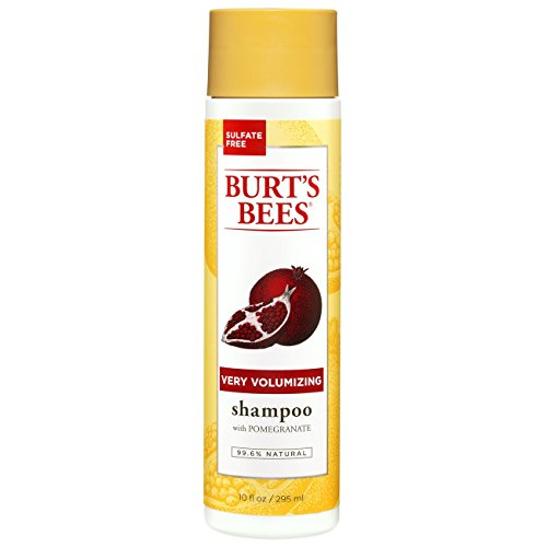 Burt's Bees Very Volumizing Pomegranate Shampoo, Sulfate-Free Shampoo - 10 Ounce Bottle (Best Drugstore Shampoo For Shiny Hair)