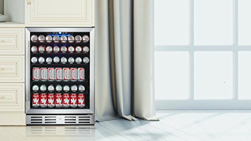 Kalamera 24'' Beverage Refrigerator 175 Can Built-in or Freestanding Single Zone Touch Control by Kalamera (Image #3)