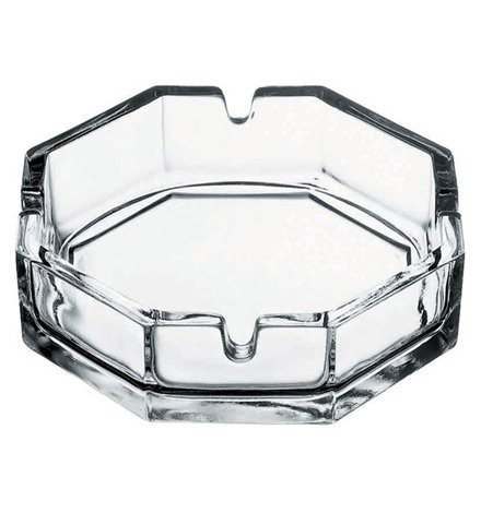 Pasabahce Octagonal Glass Cigarette Ashtray (Pack of 2) -