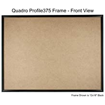 quadro frames 125x15 inch picture frame black style p375 38 inch wide molding