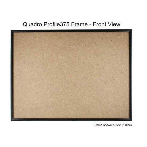 Quadroフレーム12 x 16インチ画像フレーム ブラック 4 ブラック B077GMGH5S