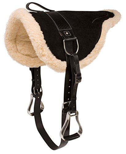NEW-WESTERN-ENGLISH-HORSE-RIDING-BAREBACK-PAD-PREMIUM-TREELESS-SADDLE-LEATHER-STIRRUPS-COMFY-HORSE-SADDLE-TACK