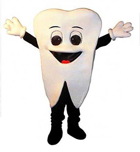 Tooth Mascot Costume Adult Size Fancy Dress -