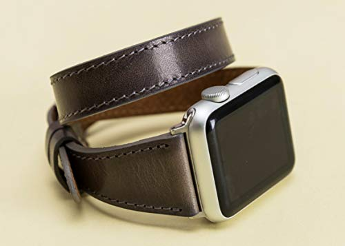 fe63b77c1 Double Tour Apple Watch Leather Band for Women Series 4 38mm, 40mm, 42mm,