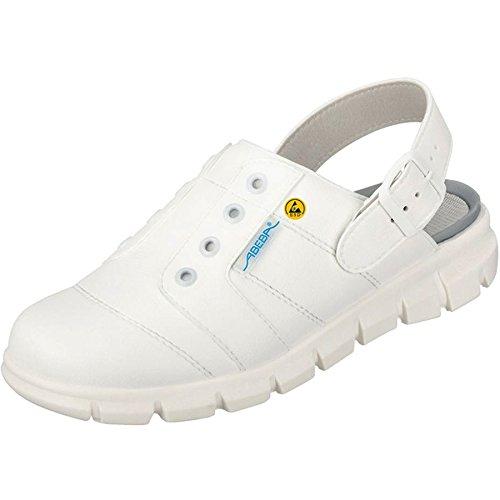 Abeba 37360-48 Dynamic Chaussures sabot ESD Taille 48 Blanc