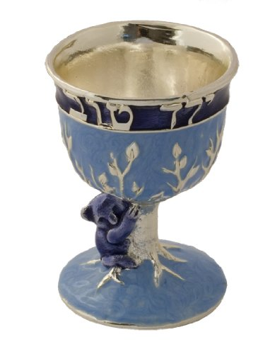 - Exquisite Kiddush Cup - Good Boy - Blue / Silver