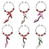 Boston Warehouse Holiday Shoes Wine Charm, Set of 6