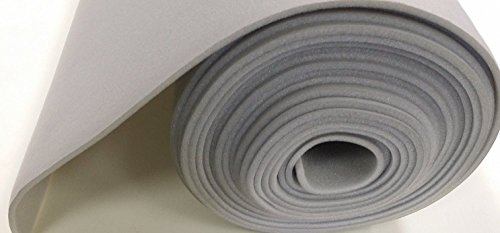 Luvfabrics HM180872 Auto Headliner 3/16in Foam Backing Fabric Material, 72in X 60in, Light Gray