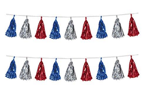 Beistle 59927-RSB Beistle 59927-RSB, 2 Piece Metallic Tassel Garlands, 9.75