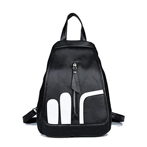 Cuadrada Wild Tamaño 4 5 Bolsa Black color Pequeña Negro Bolsos Un Shoulder Cuero De Bag Mochila Tamaño Moda Ms Eeayyygch Suave qBI8T