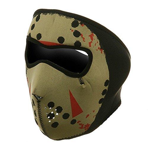 ZAN Headgear Full Face Glow In The Dark JASON HOCKEY MASK Neoprene Facemask