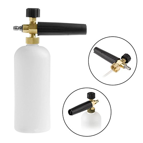 LING'S SHOP High Pressure Adjustable Snow Foam Lance Washer Soap with Foaming Spray Bottle Car Wash Gun 32OZ