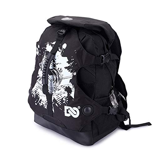 Stanpetix Roller Bag Backpack Roller Skates Multi Storage Carry Bag for Adults (Black Graffiti)