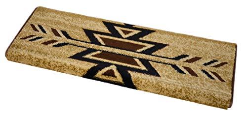 - Dean Non-Slip Tape Free Pet Friendly Stair Gripper Bullnose Carpet Stair Treads - Santa Fe Beige - Set of 3