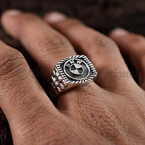 (925 Sterling Solid Silver Ring Handmade Ring Rolex Band Style Engrave Band Latest Design 3D Logo Ring Sterling Silver Oxidized Ring)