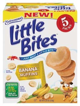 Muffin Banana Mini (Entenmann's Little Bites 5 ct Banana Muffins 8.25 oz (Pack of 6))
