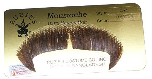 [2028 (Light Brown) Winchester Mustache] (Brown Mustache And Beard Costume)