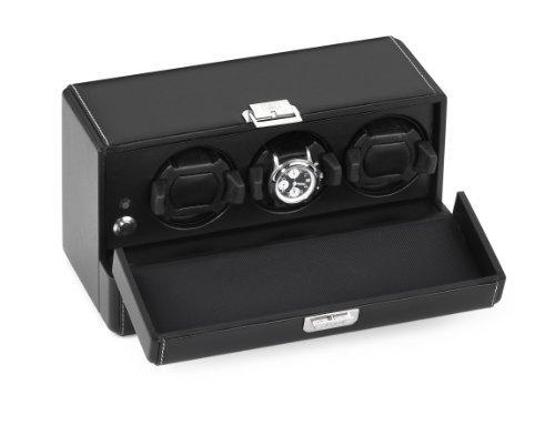 Scatola del Tempo Rotori 3RT OS Leather 3 Module Watch Winder Del Tempo Leather Watch Winder