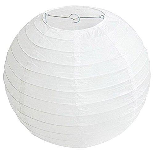 TOOGOOR-1x-Round-Paper-Lanterns-Lamp-Shade-Wedding-Decoration-18inch45cm-White