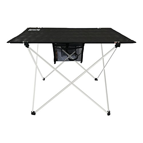 Portable Folding Camping Table Ultralight - Datechip Collapsible Travel Table with Table Cover,Aluminum Legs,Lightweight Foldable for Outdoor/Indoor Tent Hiking Picnic Beach Fishing(Black)
