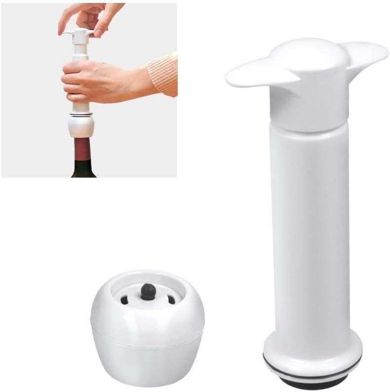 Bomba vacio+tapon vino reserva Metaltex Riserva