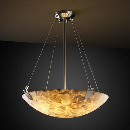 Justice Design Group ALR-9622 - U-Clips 24'' Pendant Bowl - Round Bowl Shade - Brushed Nickel (Shade Bowl 24')