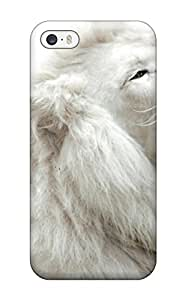 For Iphone 5/5s Protector Case White Lion Phone Cover