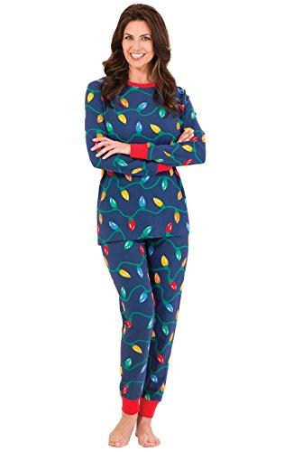 PajamaGram Womens Christmas Pajamas Adult - Christmas, Blue
