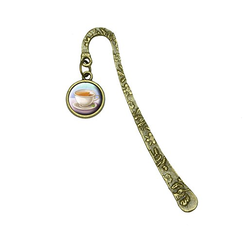 Bronze Teacup (Delicate Teacup Book Bookmark Placeholder with Charm)