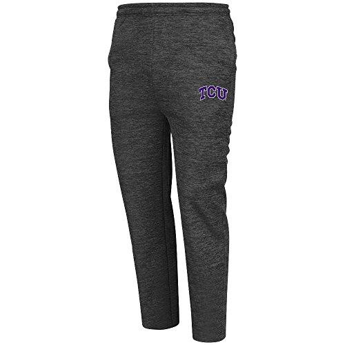 Mens NCAA TCU Horned Frogs Poly Fleece Pants (Heather Charcoal) - (Tcu Mens Pants)