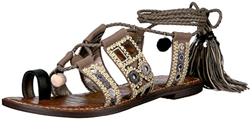 Sam Edelman Gretchen de la mujer sandalias de gladiador Putty/Black/Natural/Multi