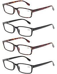READING GLASSES 4 Pack Spring Hinge Comfort Readers...