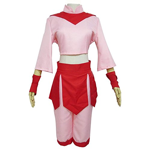 Fire Nation Royal Fire Academy TY Lee Cosplay Costume Halloween Pink Outfit (Large)